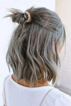 Short Grey Haircut