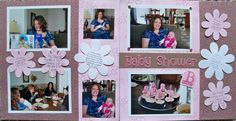 Baby Shower Scrapbook Layouts | received this layout from my friend Stacy. She hosted a baby shower ...