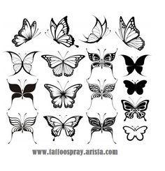 Najlepsze Obrazy Na Tablicy Tatuaże Motyle 64 Małe