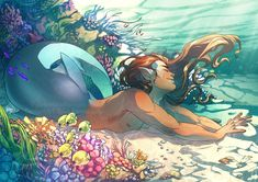 Want to discover art related to merman? Check out inspiring examples of merman artwork on DeviantArt, and get inspired by our community of talented artists. Mermaid Boy, Male Mermaid, Fantasy Creatures, Mythical Creatures, Fantasy Kunst, Fantasy Art, Mermaid Stories, Mermaid Drawings, Mermaids And Mermen