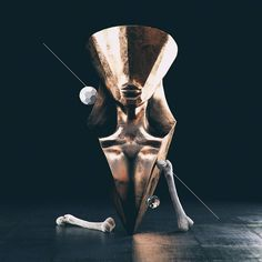 #talisman #cinema #4d #c4d #cinema4d #octane #render #octanerender #photoshop #daily #3d #gfx #graphics #graphic #design #abstract #art #surreal #gold #woman #bust #head #dark #femur #geometry #fantasy #realistic #bones #rsa_graphics by hoodass