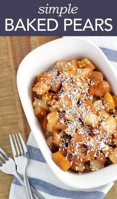 This is a great baked pears recipe for dinner!