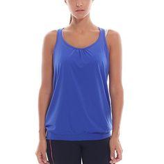 SYROKAN Women's Active Racerback Athletic Sports T-shirt Long Tank Top Blue L - http://www.exercisejoy.com/syrokan-womens-active-racerback-athletic-sports-t-shirt-long-tank-top-blue-l/athletic-clothing/