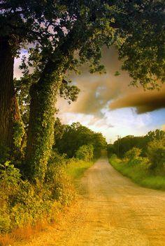 Estrada rural no condado de Hill, estado do Texas, USA.  Fotografia: Junga no Flickr.