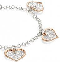 Nomination Romantica Rose Gold Plated 4x Heart Bracelet