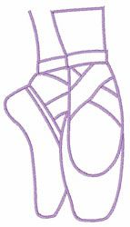 Ballet Pointe Shoes embroidery design