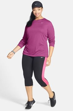 be8563aace96bf Nike Long Sleeve Tee and Capris (Plus Size) available at  Nordstrom Nike  Long