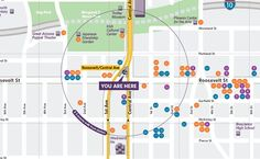 Phoenix Arizona Valley Metro and Partners are creating Maps to show unique neighborhoods and destinations near each light rail station. Great idea!