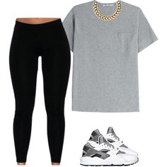 Untitled #528 by prettygirlnunu on Polyvore featuring T By Alexander Wang, Club Manhattan and NIKE