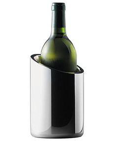 "Nambe Wine Chiller, 7"" - Bar & Wine Accessories - Dining & Entertaining - Macy's"