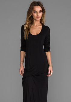 RILLER & FOUNT Niles Pinched Front Dress in Black - New