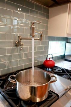 Pot filler !! So handy for those heavy pots of water !!
