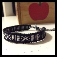 """2 for $8 ⇨ Black 'n' White Boho Woven Bracelet 🔮ASK ME TO CREATE A NEW LISTING W/ YOUR LIKES! DON'T USE """"ADD TO BUNDLE"""" BUTTON ⇨ Mix 'n' match bracelets that say 2 for $8. You can bundle 3 for $12 • 4 for $16 • 5 for $20 ( that's 33% OFF + FREE Bracelet)  •Handmade using a loom by skilled Peruvian artisans!  •Handwoven with black & white wool thread.   •ⓢⓘⓩⓔ: 5 1/2 in. around wrist  •Coachella/BurningMan/rock/edc/raves/Friendship/Weaved/Geometric/Bohemian/Aztec/Vintage/Retro/Goth/dark/Urban…"""