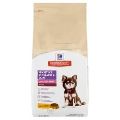Hill's Science Diet Adult Small & Toy Breed Sensitive Stomach & Skin Chicken Meal & Barley Recipe Dry Dog Food, 15 lb bag