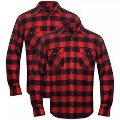 2 Herre rutete flanellskjorter rød/svart L , Gjør ditt arbeidsantrekk komplett med disse komfortable og slitesterke rutete flanell skjortene. De er ideelle for generelt friluftsliv eller som arbeidstøy eller bare som et moteuttrykk.  kr575,75> 0% Rabatt  https://www.fyndpris.no/8130981-2-herre-rutete-flanellskjorter-rodsvart-l.html