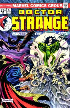 Doctor Strange, Master Of The Mystic Arts N°6 (February 1975) - Cover by Frank Brunner