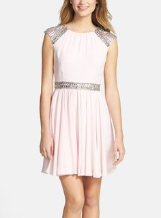 Can't wait to wear this sparkly Ted Baker embellished crepe fit & flare dress!