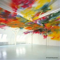 Katharina Grosse http://decdesignecasa.blogspot.it #art #installation