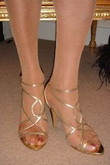 Feet cross dresser feet