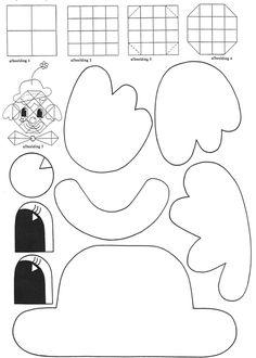 Cutting Clown A good cutting exercise. The children cut the molds and fold . Clown Crafts, Carnival Crafts, Halloween Carnival, Halloween Crafts, Circus Clown, Circus Theme, Clowns, Puzzle Photo, Theme Carnaval