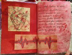 Art journal heart page