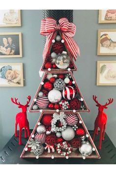 Kmart stacking Christmas tree hack