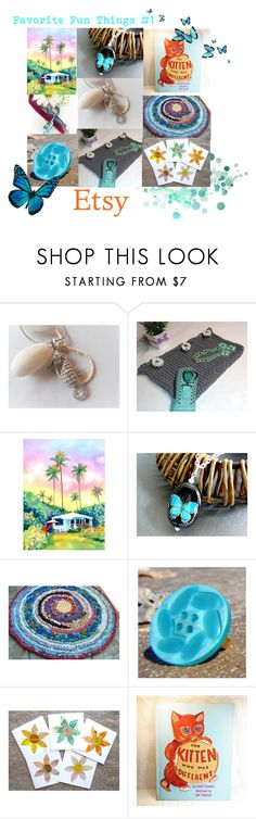"""Favorite Fun Things #1"" by artbymarionette ❤ liked on Polyvore featuring vintage, etsy, EtsySpecialT and SpecialTweek"
