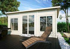 Outdoor Buildings, Double Vitrage, Villa, Easy Garden, Outdoor Furniture, Outdoor Decor, Sun Lounger, Bungalow, Cottage
