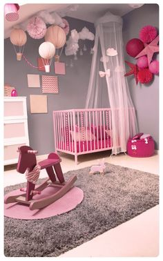 33 Adorable Nursery Room Ideas For Baby Girl Baby Bedroom, Baby Room Decor, Nursery Room, Girl Nursery, Girls Bedroom, Nursery Decor, Room Baby, Baby Rooms, Room For Baby Girl