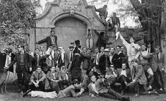 Members of the Oxford University Boat Club pose for a photograph, early (Stephen Hawking with handkerchief) in History Never Gets Old by Daniel Guthorn - Tapiture Margaret Thatcher, Carl Sagan, Big Bang Theory, Stephen Hawking Young, Boat Club, Einstein, Rowing Team, Rowing Crew, History Images