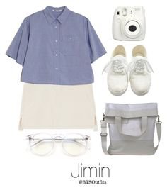 """""""Zoo with Jimin"""" by btsoutfits ❤ liked on Polyvore featuring T By Alexander Wang, Fujifilm, MM6 Maison Margiela and Wildfox"""
