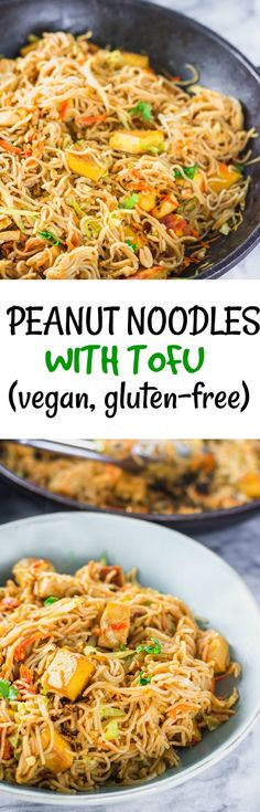 Peanut Tofu With Tofu #veganrecipes #veganfood #glutenfreerecipes #noodles #tofustirfry #healthiersteps