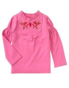 New Gymboree Peruvian Dolls Girls Mauve Pink Flower Shirt Top Sz 3T NWT Free SHIP.  Love this little shirt. Ebay item # 160856997329