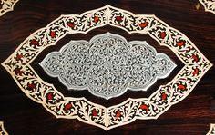 Silver inlay rosewood peetha-Wedding-Indikkrafts