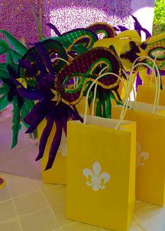 Mardi Gras first birthday goodie bags