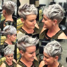 Best Short Hairstyles for Women Over 40 - Chic Pixie Haircut - Short hair cuts - Frisuren Undercut Hairstyles, Pixie Hairstyles, Cool Hairstyles, Hairstyles 2018, Blonde Hairstyles, Cropped Hairstyles, Modern Hairstyles, Weave Hairstyles, Latest Short Hairstyles