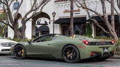 Navy Green Ferrari 458
