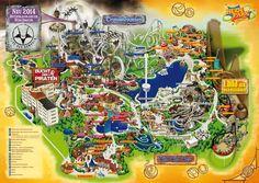 Park map, heide park,
