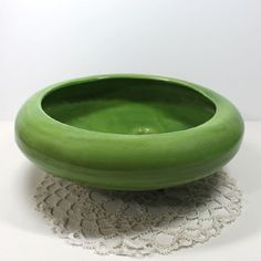 Vintage Green Ceramic Footed Planter Green USA Calif by DigiMiging, SOLD!