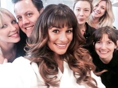 Lea Michele at the cover shoot for Seventeen Magazine with team LM