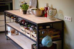 Kitchen Sidetable on wheels Kitchen Cart, Liquor Cabinet, Storage, Furniture, Home Decor, Purse Storage, Decoration Home, Room Decor, House Bar