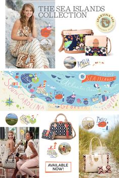 Spartina Bags Sea Island Collection at Lazy Gator Gifts Myrtle Beach Shopping, Goin Coastal, Latest Handbags, Home Furnishing Stores, Savannah Chat, Fashion Boutique, Lazy, Islands, Totes