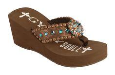 35614950c076 Gypsy Soule Dylan Heel Flip Flops available at  Sheplers Heeled Flip Flops