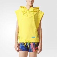 release date: 8c7d4 91310 adidas STELLASPORT Tank Hoodie - Yellow Adidas Damer, Adidas Originals,  Modedesign, Athleisure