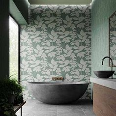 Since Graham & Brown has been designing and manufacturing wallpaper for your home. Shop for exclusive wallpaper designs and the latest wall coverings now. Blush Wallpaper, Silver Wallpaper, Green Wallpaper, Wallpaper Samples, Kuta, Silver Metallic Paint, Wallpaper Please, Deco Nature, Style Deco