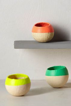 Air Plant Pod #Anthropologie #Pintowin Outdoor decorating ideas Bright colors and calming neutrals Red, Orange, Blue, Green, Yellow, White & Grey