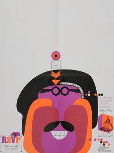 Invitation design by Bruce Weatherhead, 1968. A Walk Through Henry Talbot's Head.