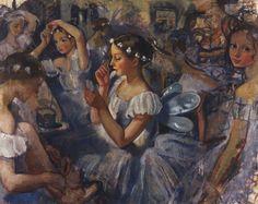 Girls Sylphides (Ballet Chopiniana) - Zinaida Serebriakova