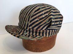 48ea3154925 Engineer Cap in Limited Edition Vintage Wash Express Stripe Denim