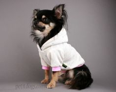 Dog clothes Cute waffle jersey ivory and pink hearts light weight dog hoodie for all breeds